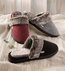 Acorn® Women's Chinchilla Scuff Slippers