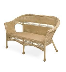 Easy Care Resin Wicker Love Seat