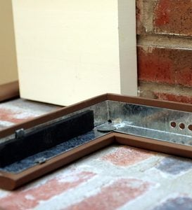 Flame-Resistant Metal Backed Hearth Guard