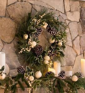 Winter White Faux Holiday Wreath