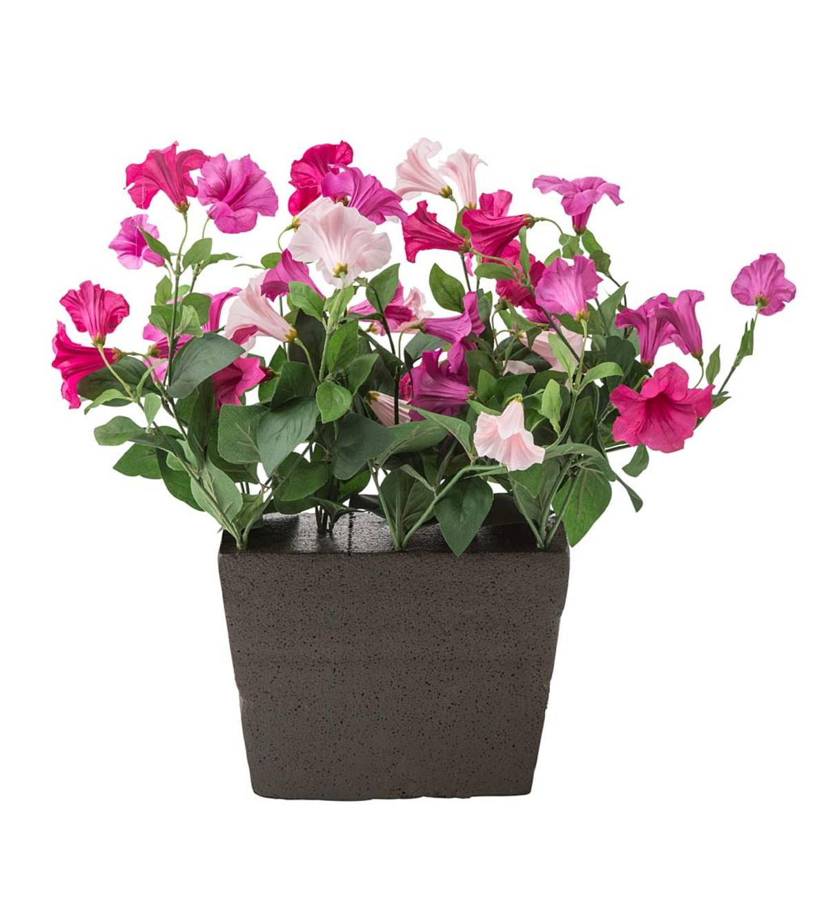 Faux Pink Petunia Window Box Filler
