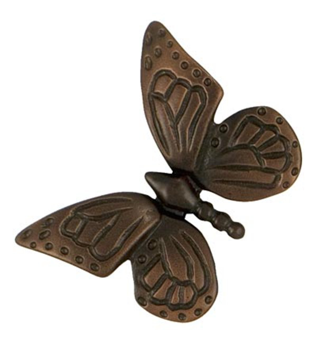 Sand-Cast Butterfly Doorbell Ringer By Michael Healy - Brass/Bronze
