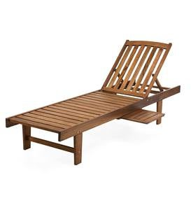 Eucalyptus Wood Chaise Lounge, Lancaster Outdoor Furniture Collection