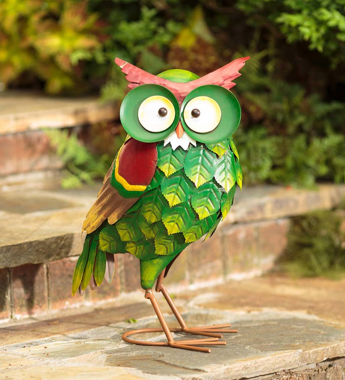 Metal Ollie The Owl Garden Statue