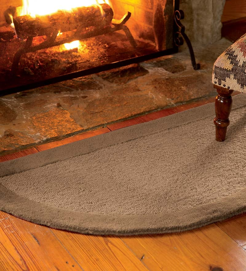 Madrid Banded Half-Round Hearth Rug, 2' x 4' swatch image