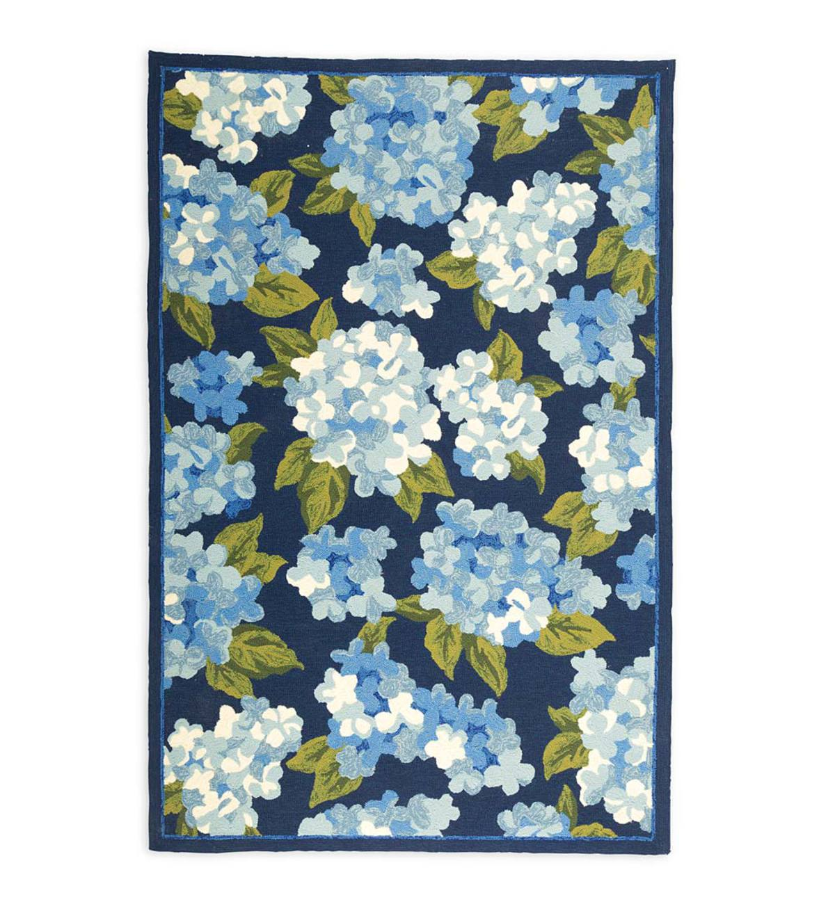 Hydrangeas Indoor/Outdoor Rug, 8' x 10'