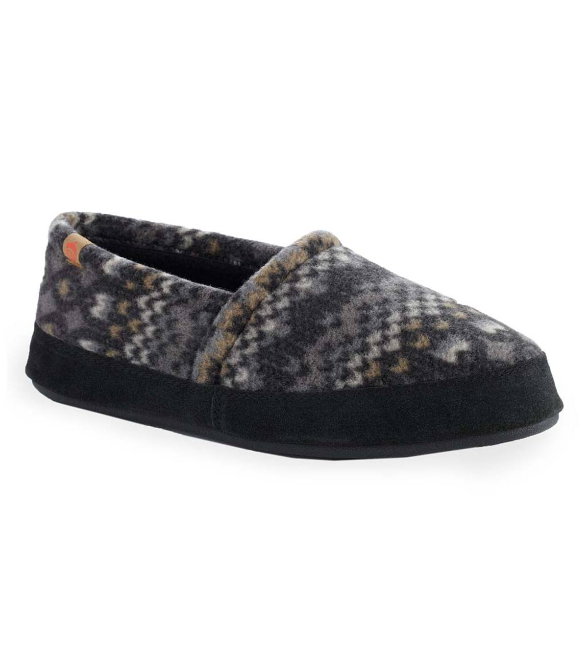 Men's Acorn® Moc Slippers - Charcoal Cable - XL(12-13)