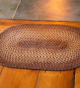 USA-Made Wool Braided Virginia Rug, 7' x 9' - Cappuccino