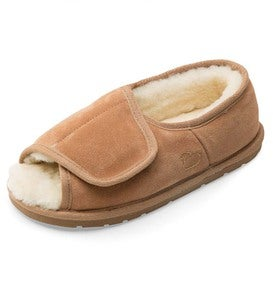 Men's Sheepskin Wrap Slippers With Closed Back