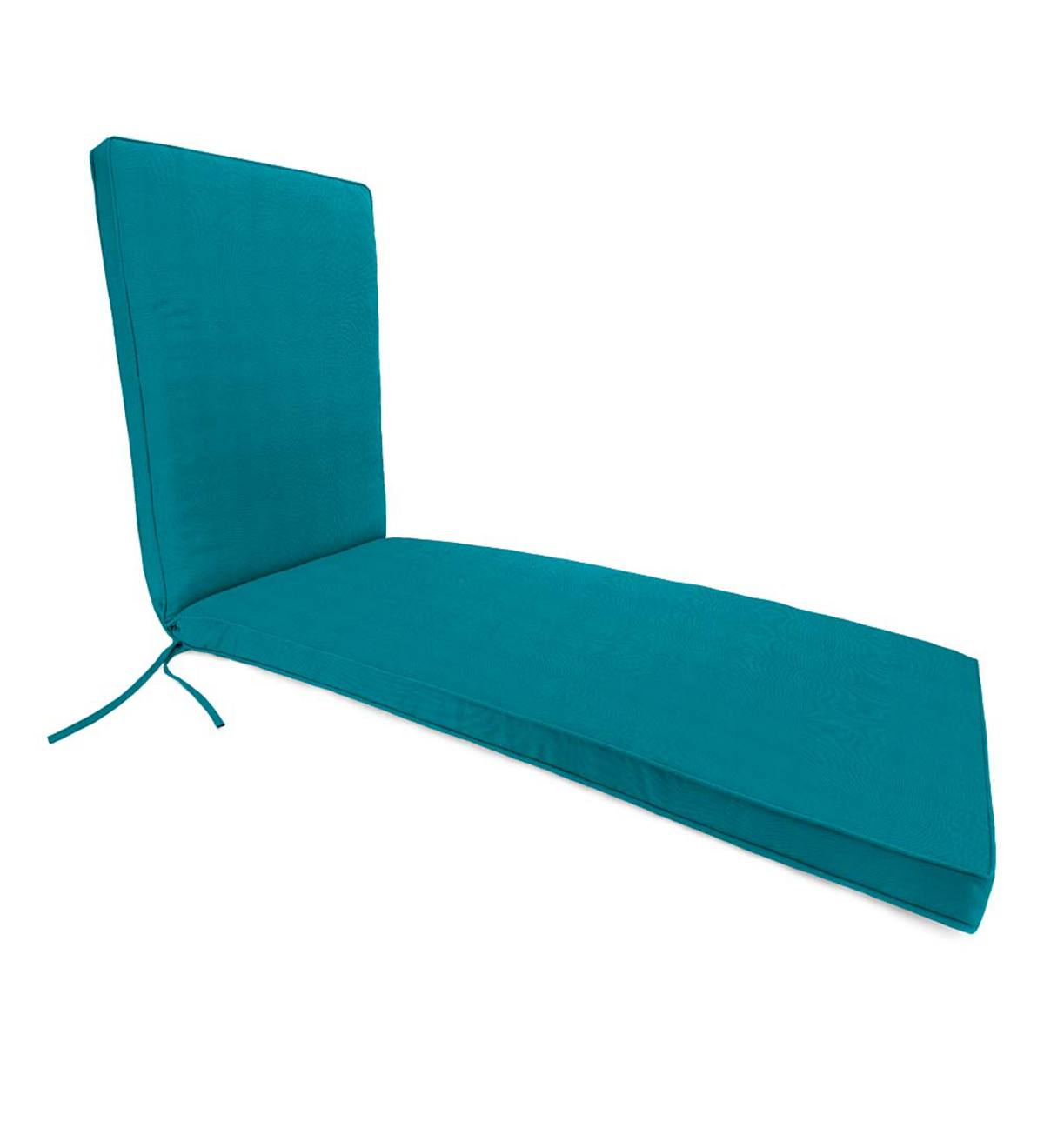 Deluxe Sunbrella™ Chaise Cushion With Ties 74 1/4u201dx 23