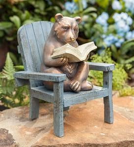 Reading Bear Garden Statue
