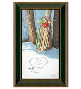 Framed Cold Days & Warm Hearts Personalized Print