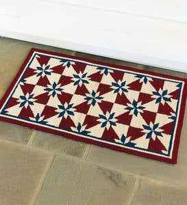 Indoor/Outdoor Hooked Americana Rug