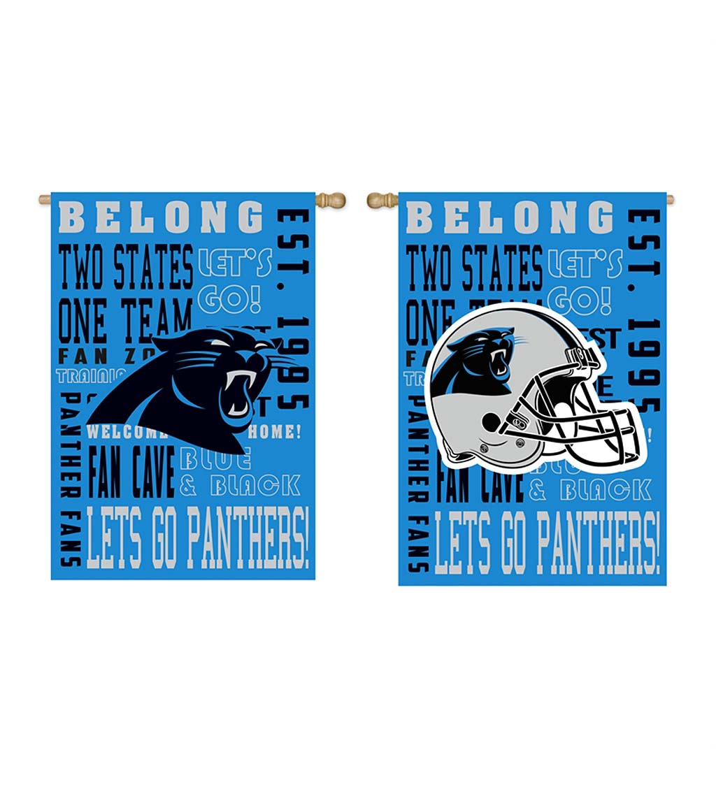 Double-Sided Fan Rules NFL Team Pride Sueded House Flag swatch image