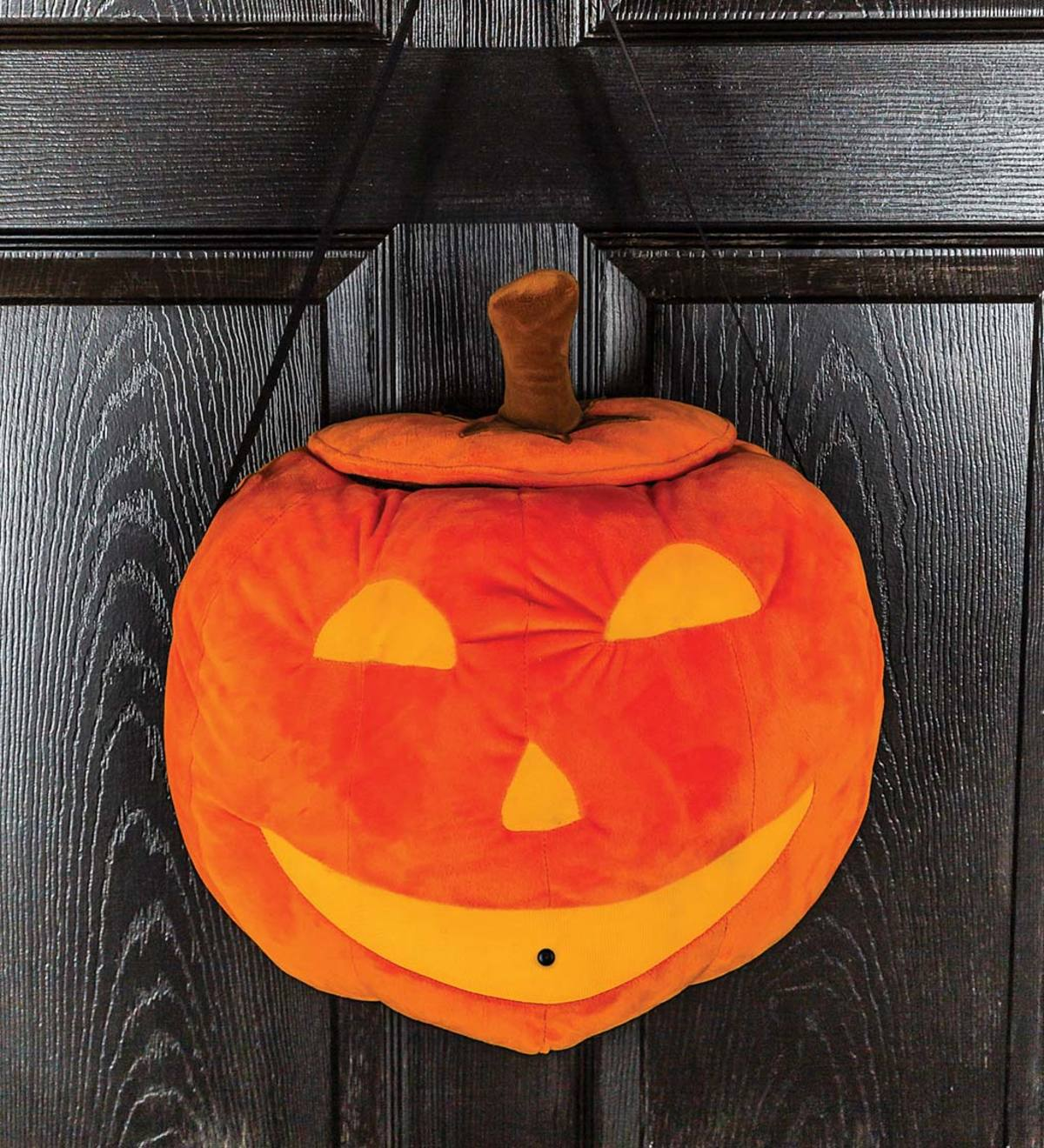 Jack O Lantern Halloween Cat Motion Sensing Door Decor Plowhearth