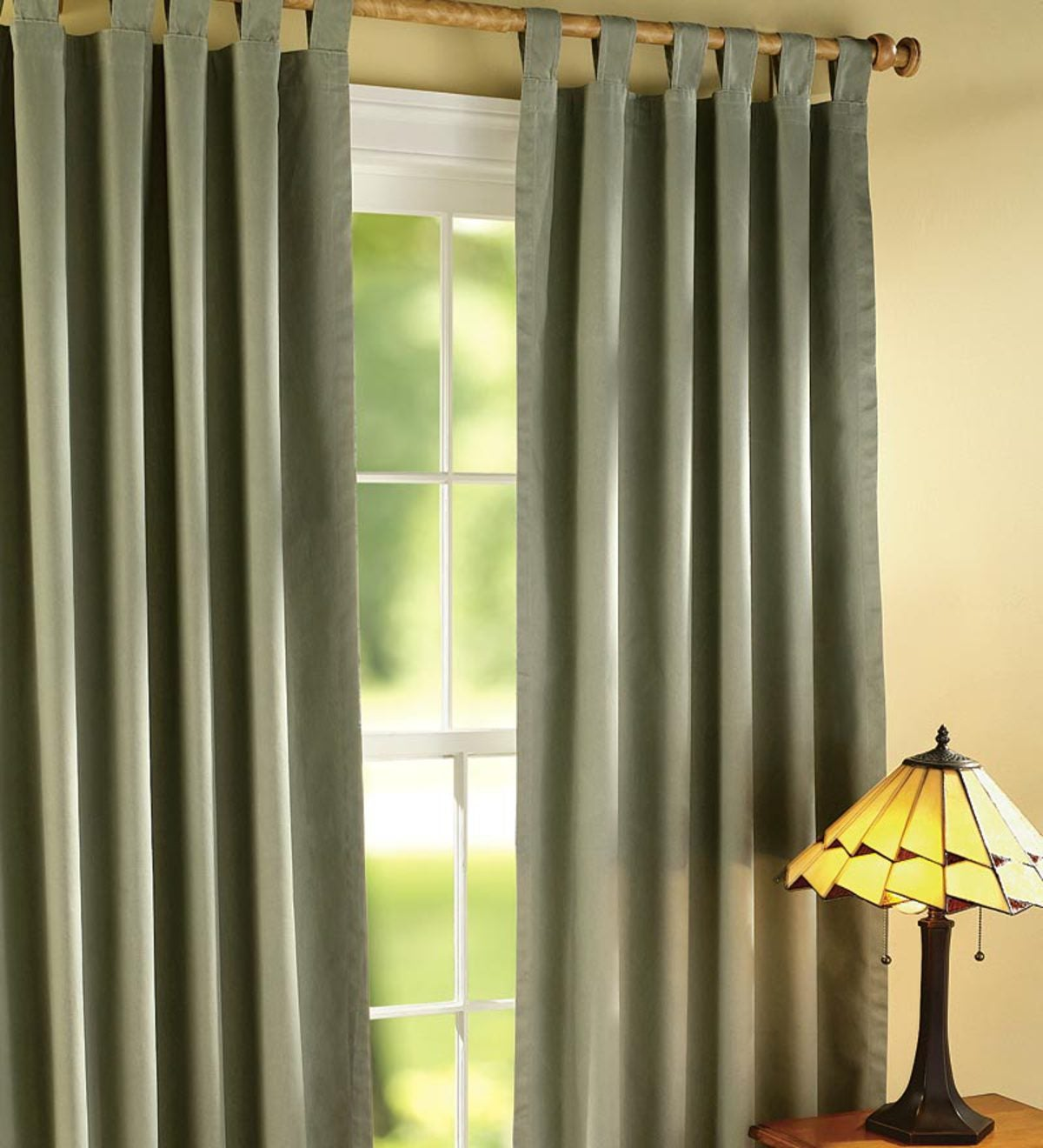 "54""L Thermalogic Energy Efficient Insulated Solid Tab-Top Curtain Pair"