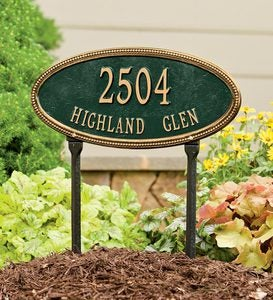 USA-Made Cast Aluminum Personalized Address Plaques