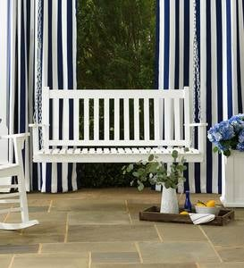 Slatted Wood Porch Swing