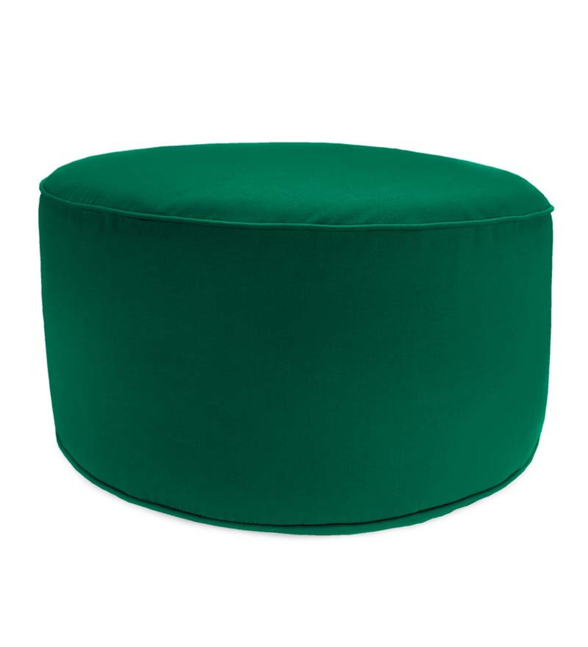Cool Round Sunbrella Deluxe Outdoor Pouf Ottoman Forest Green Lamtechconsult Wood Chair Design Ideas Lamtechconsultcom