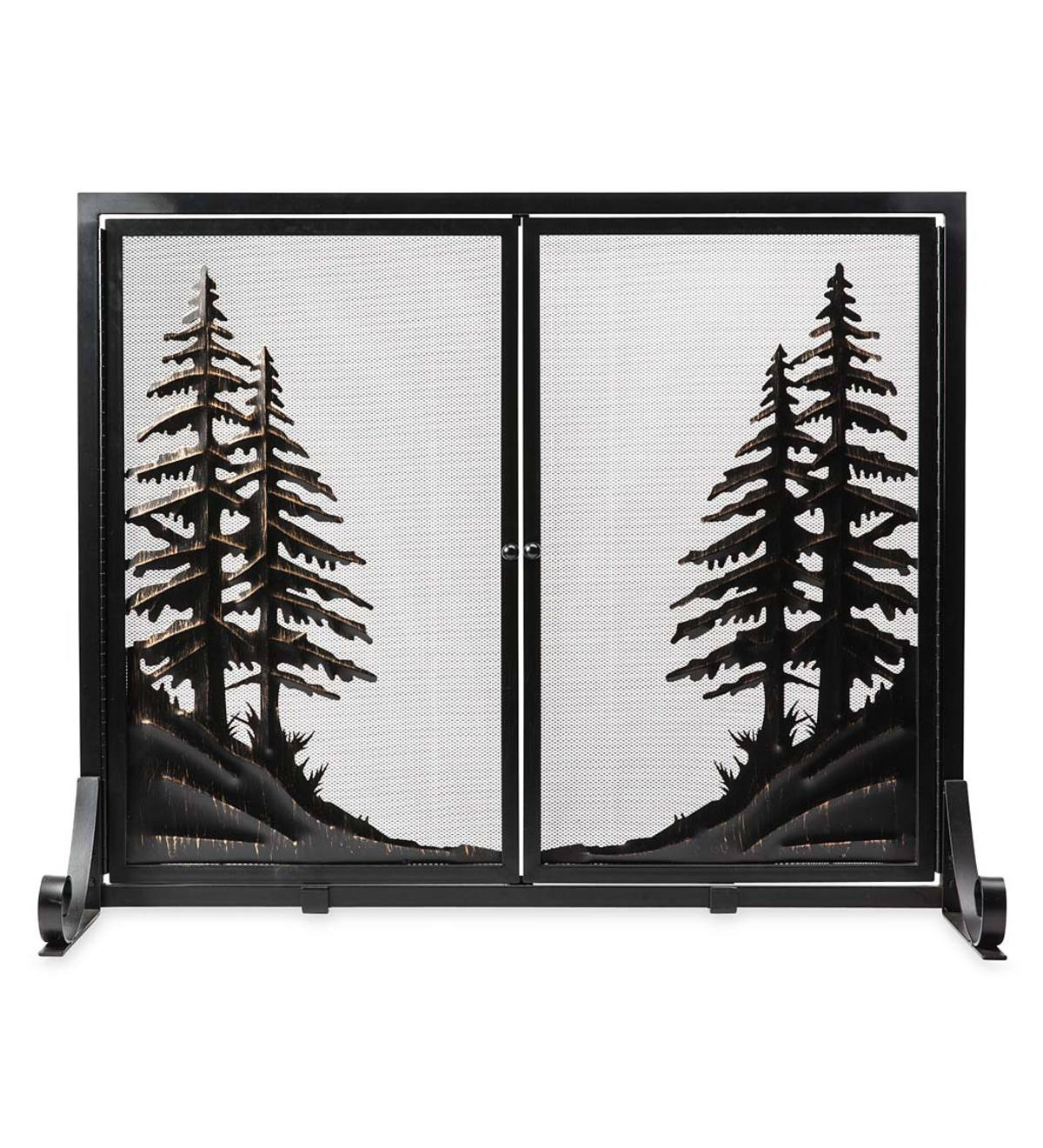 Alpine Fireplace Screen with Doors, Large
