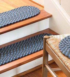 "Indoor/Outdoor Braided Polypro Roanoke Stair Tread, 8""x 28"""