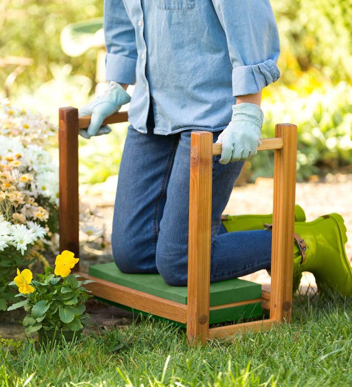 Usa Made Cedar Garden Kneeler Seat Plowhearth
