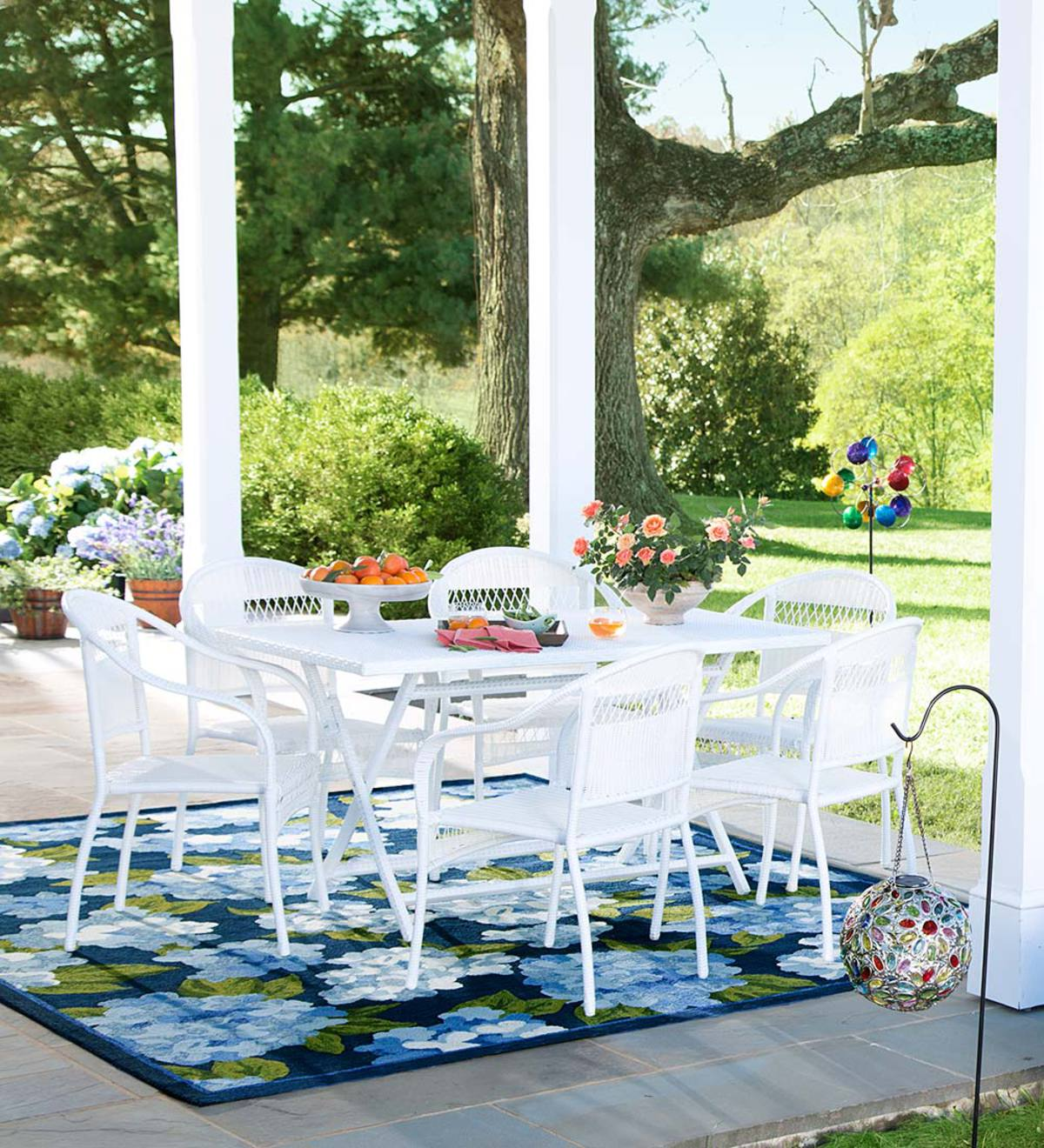 Tangier Wicker Stacking Chairs and Rectangle Folding Table
