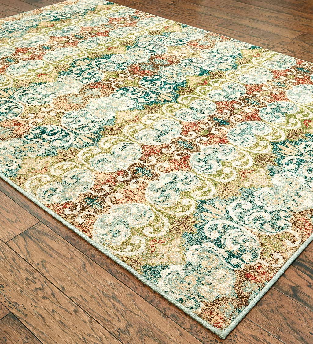 "Daughton Scroll Area Rug, 3'10"" x 5'5"""