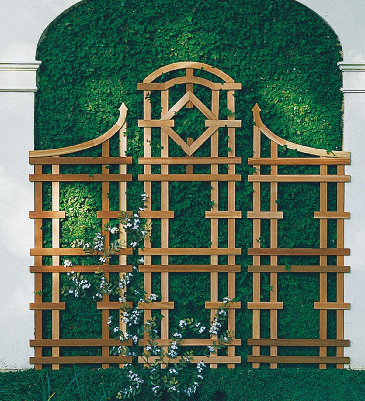 American Made Cedar Garden Trellis In Natural