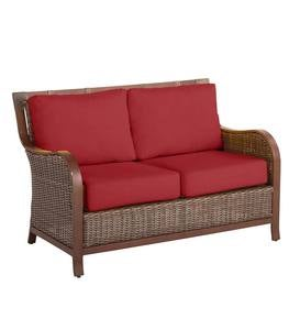 Urbanna Premium Wicker Love Seat with Luxury Cushions