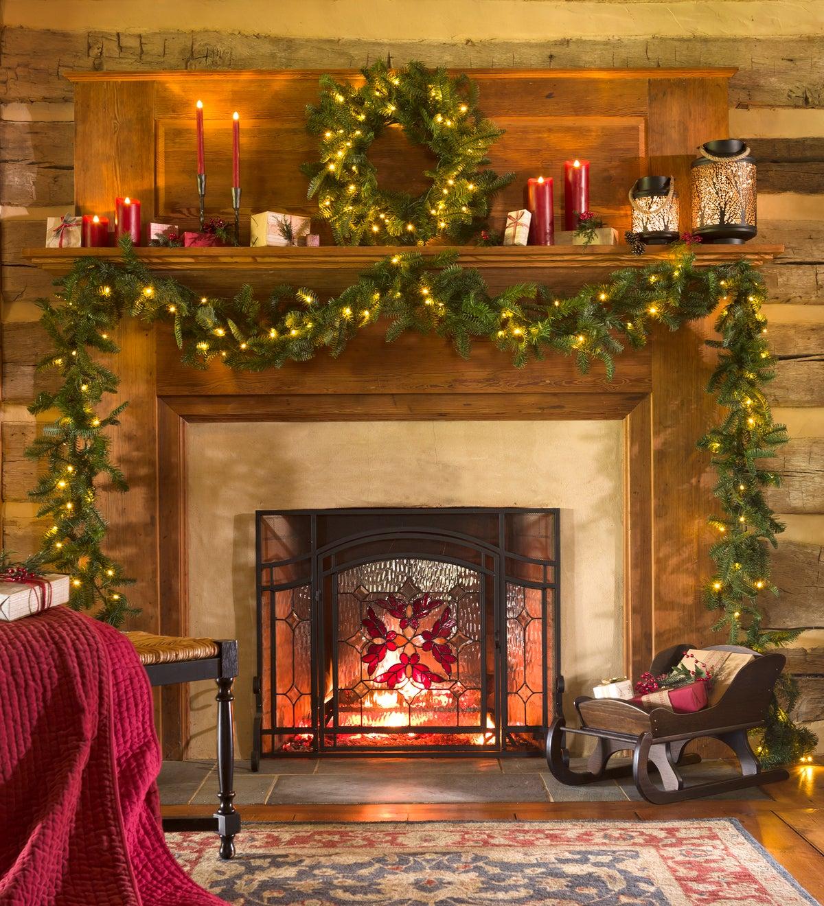 Nordmann Fir Lighted Christmas Garland 9 L Plowhearth