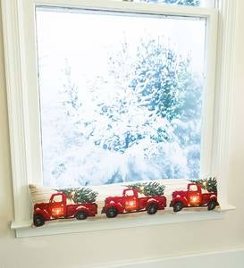 Lighted Holiday Truck Draftstopper