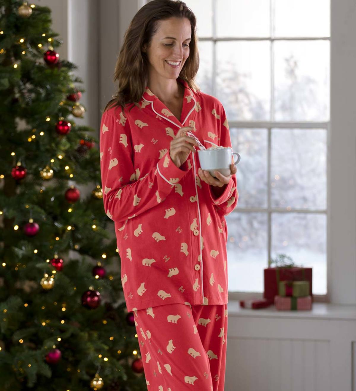 Life is Good Women's Polar Bear Pajama Set