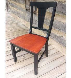 Fiddle Back Wood Side Chair