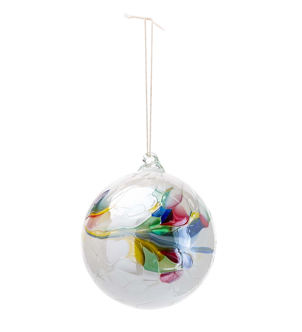 Individually Hand-Blown Glass Globe Holiday Ornament