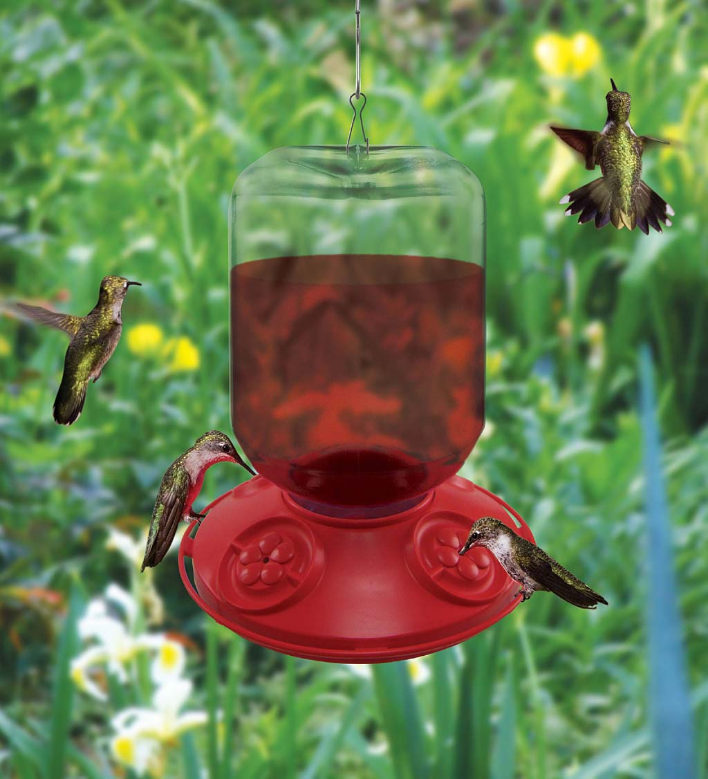 Dr. JB's 48-Ounce Switchable Size Hummingbird Feeder
