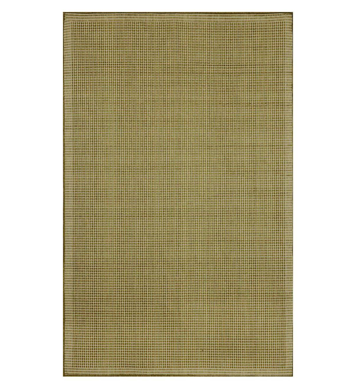"Solid Color Indoor/Outdoor Polypropylene Rug, 7'10""sq."