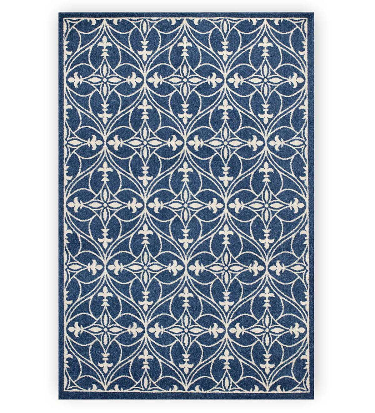 "Bowman Area Rug, 6'7""x 9'6"" - Denim"