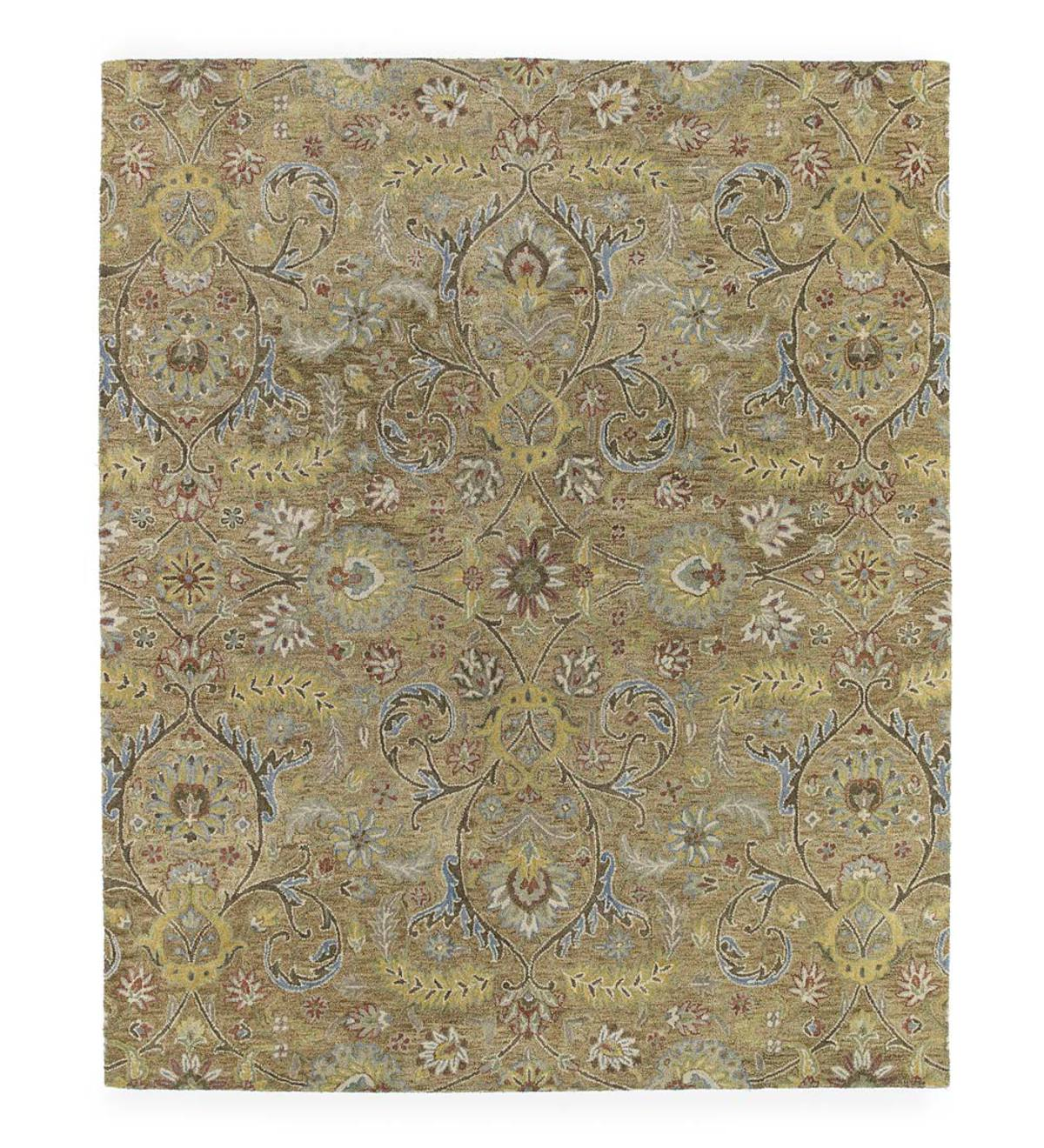 Meadow Fern Wool Rug, 2' x 3' - Gold