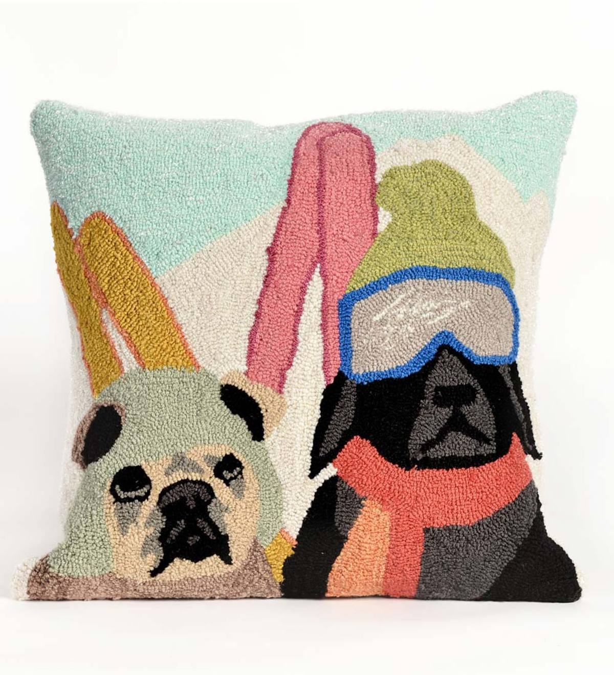 Ski Patrol Dog Indoor/Outdoor Throw Pillow