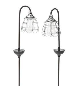 Solar Firefly Garden Pathway Lights, Set of 2