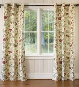 Jacobean Thermalogic Grommet-Top Curtains
