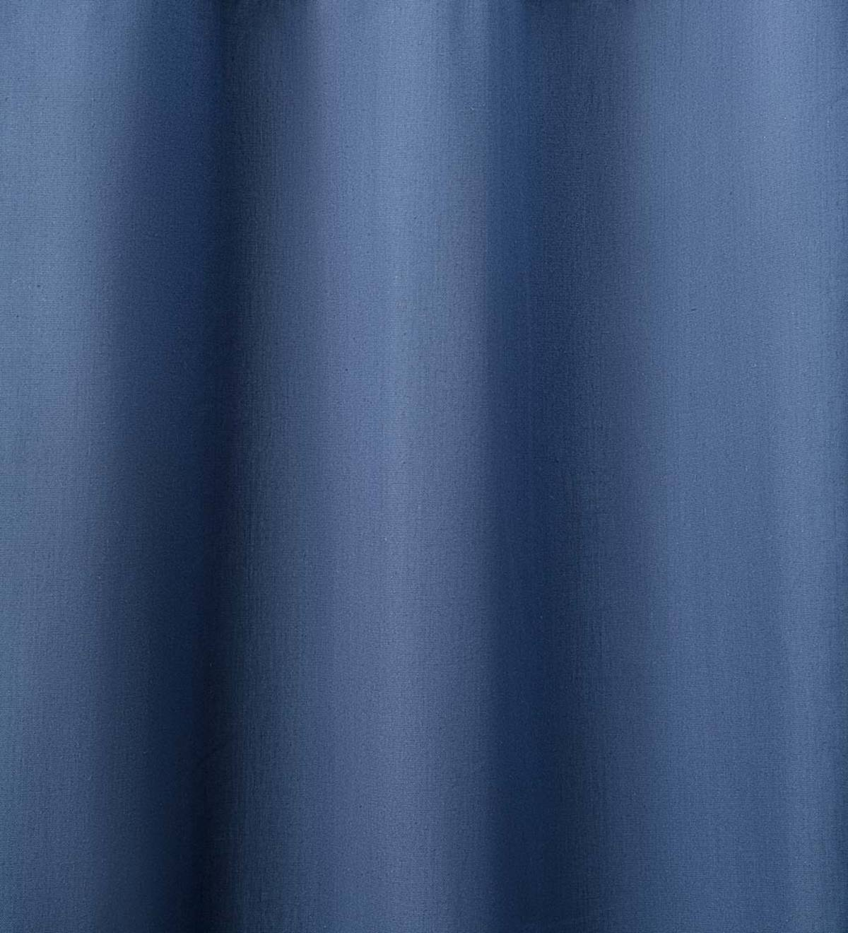"Insulated Short Curtain Panel with Rod Pocket, 40""W x 45""L - Denim Solid"