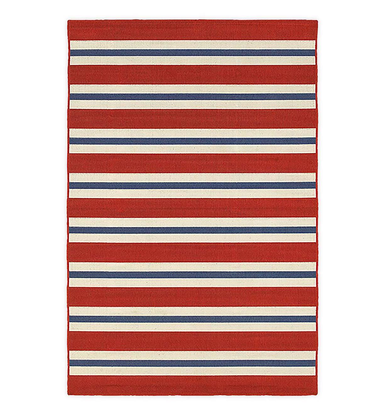 Lexington Red Stripe Rug 7 10 X 10 10 Plowhearth