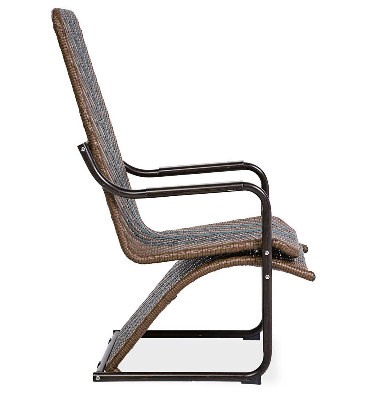 Chesapeake Wicker Steamer Chair And Ottoman