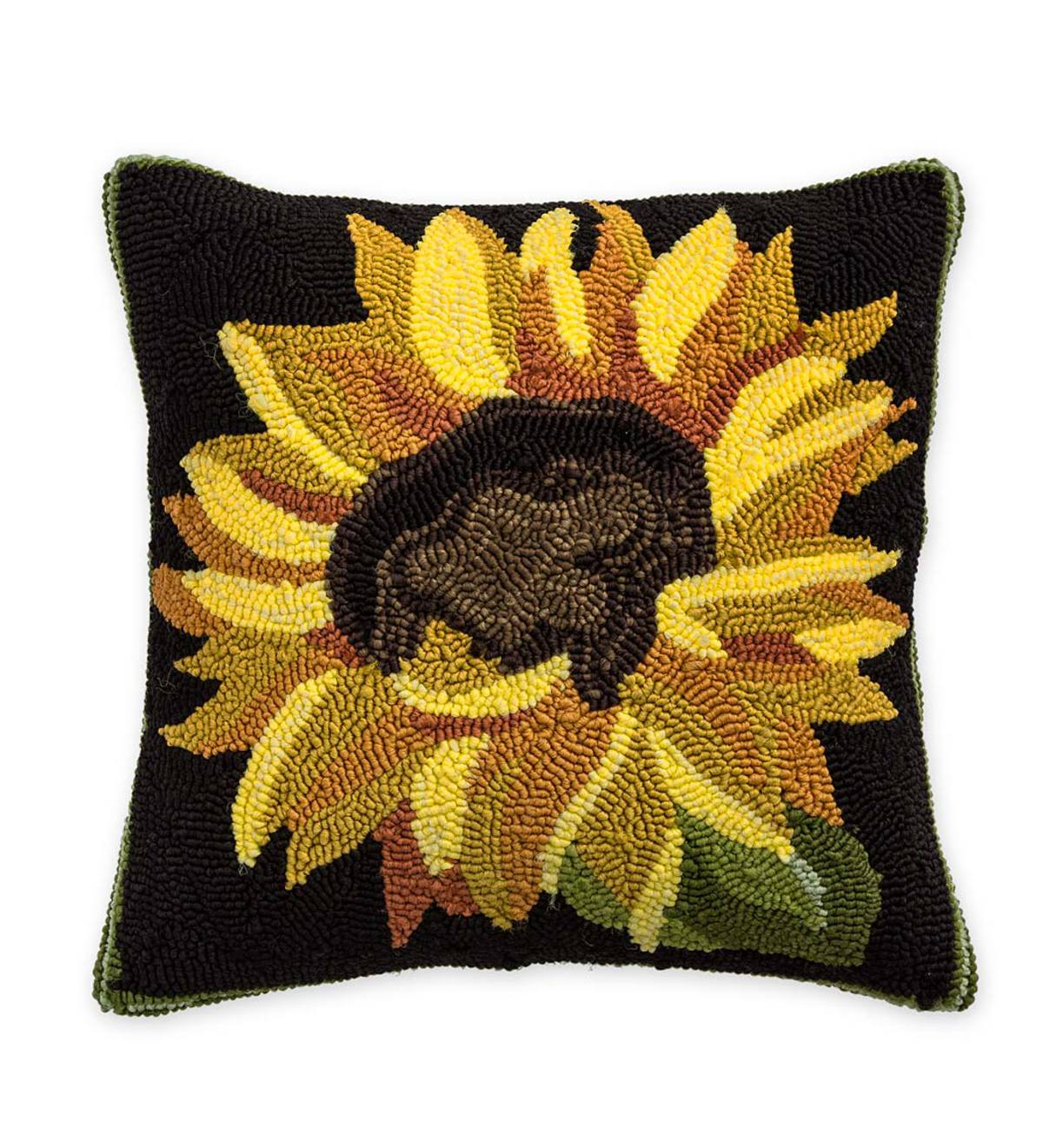 Indoor Outdoor Sunflower Throw Pillow Plowhearth