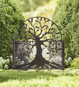Metal Garden Gate with Tree of Life Design