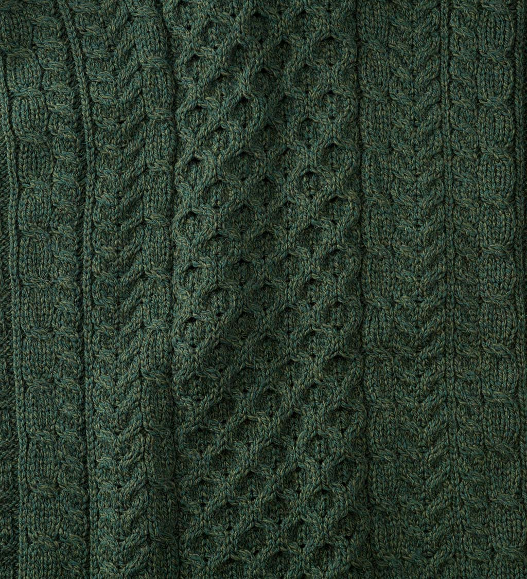 Men's Irish Merino Wool Cardigan Sweater swatch image