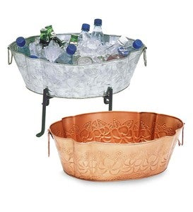 Galvanized Steel Embossed Tub and Folding Stand