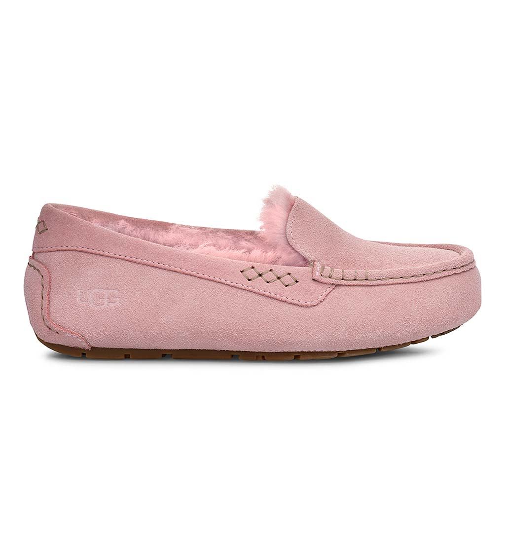 UGG Ansley Moccasin Slippers - Pink Crystal - Size 10